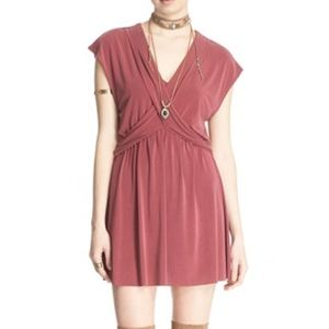 Free People Mulberry Crisscross Front Dress Medium